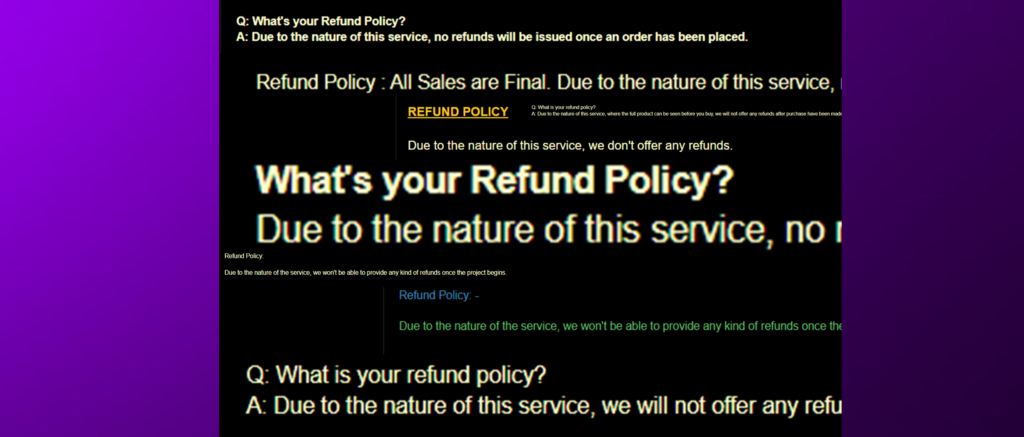 """An Analysis Of """"Due To The Nature Of This Service"""" Claims"""
